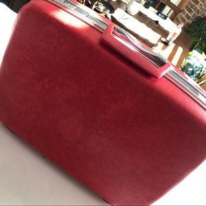 Vintage Samsonite Luggage Hot Pink